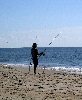 Outer banks pier surf fishing outer banks vacation rentals for Surf fishing waders