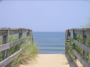 Walkway to the beach from a Nags Head rental