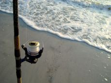 Surf fishing on Hatteras Island NC