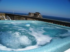 Beautiful view from the hot tub of a Hatteras Island vacation rental.