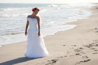 Bride at an Outer Banks wedding