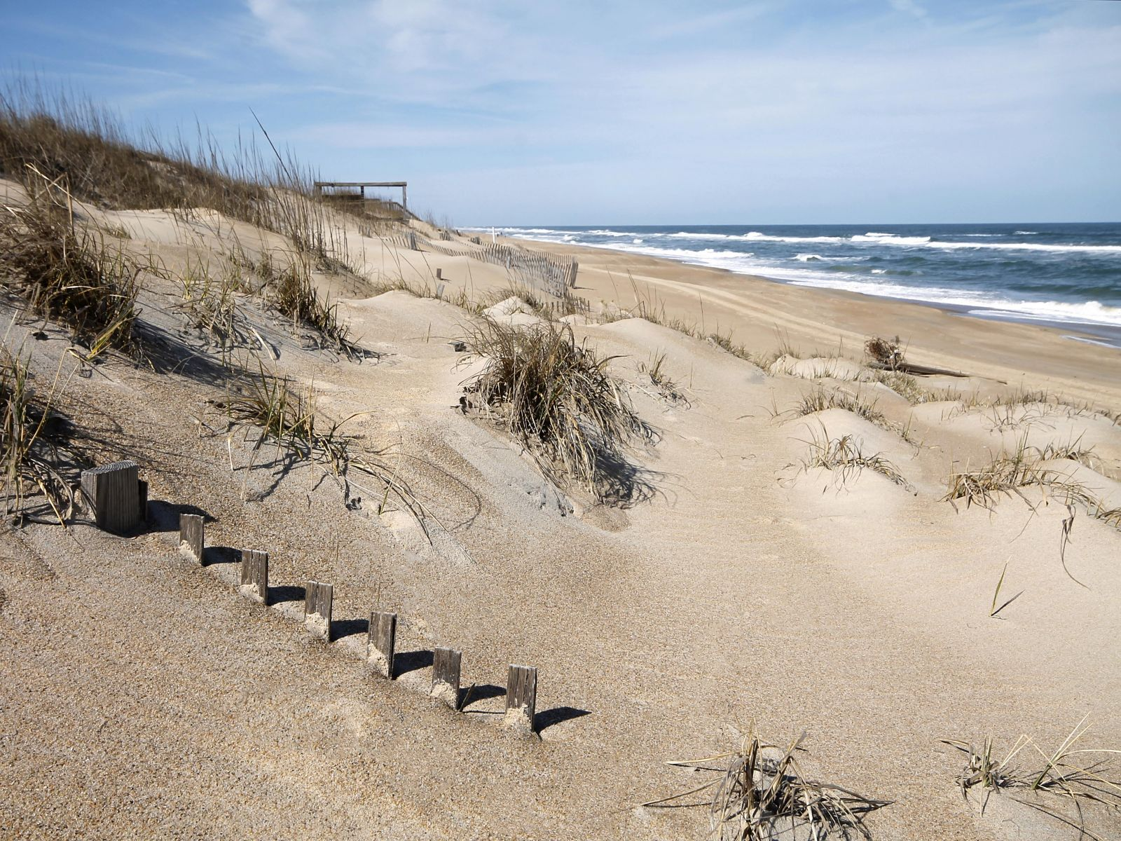 Uncrowded beaches in Nags Head, NC