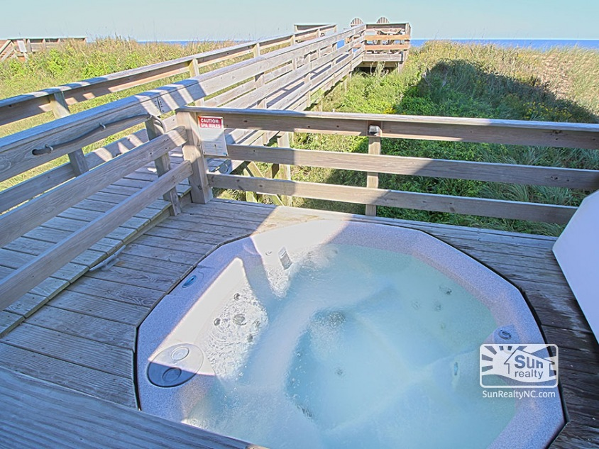 Private Walkway to Beach with Private Hot Tub