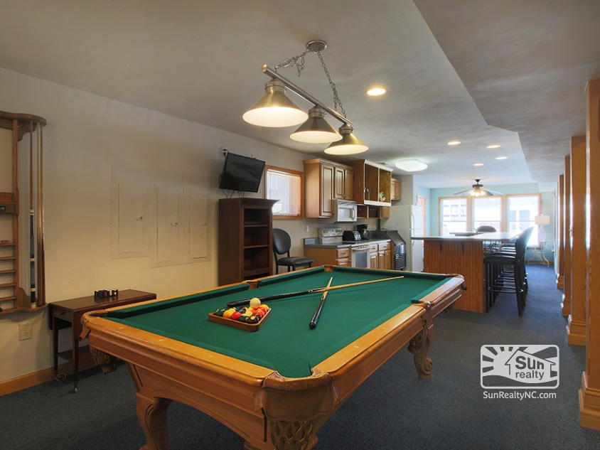 Ground Floor Rec Room with Pool Table