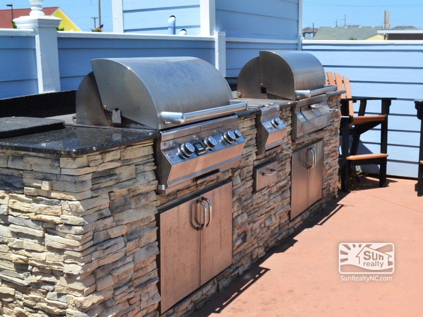 Two Grills in Pool Area