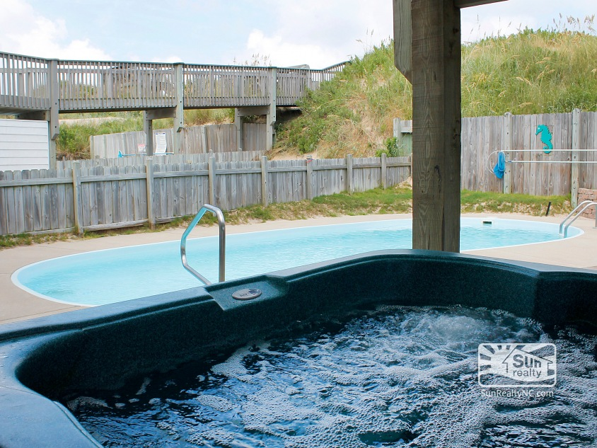 Private Hot Tub overlooking the Pool