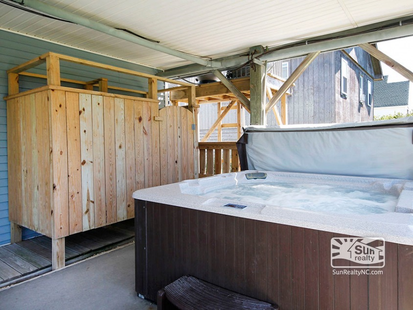 Outside Shower and Private Hot Tub