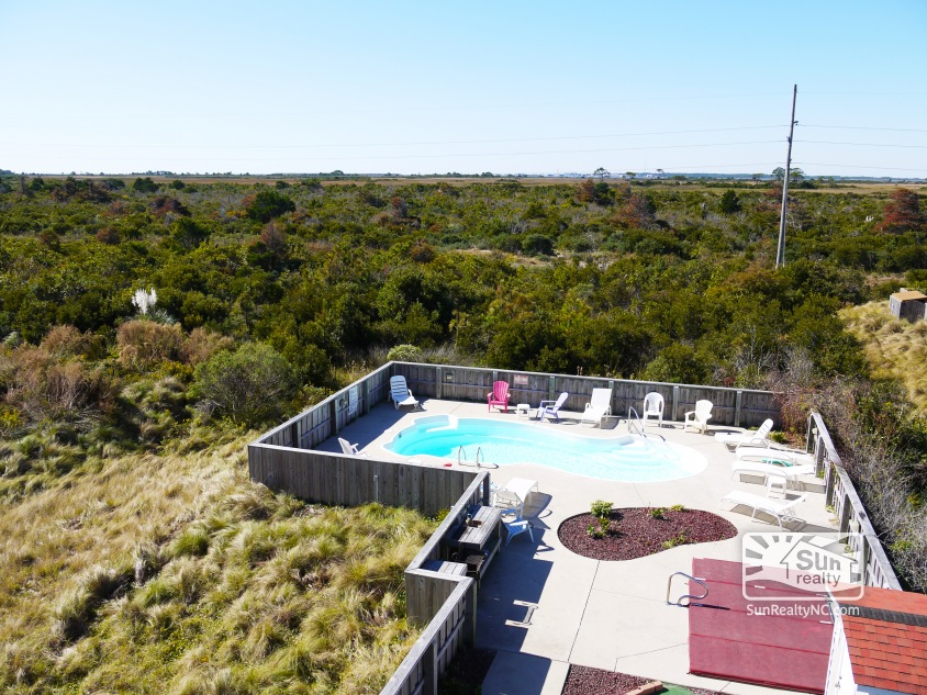 View of Pool Area from Deck