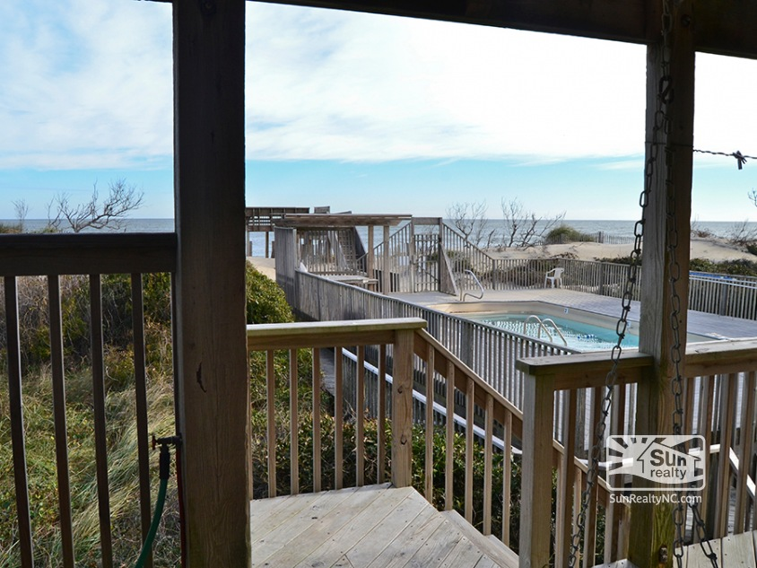 Mid-Level Deck w/ Ocean and Community Pool Views