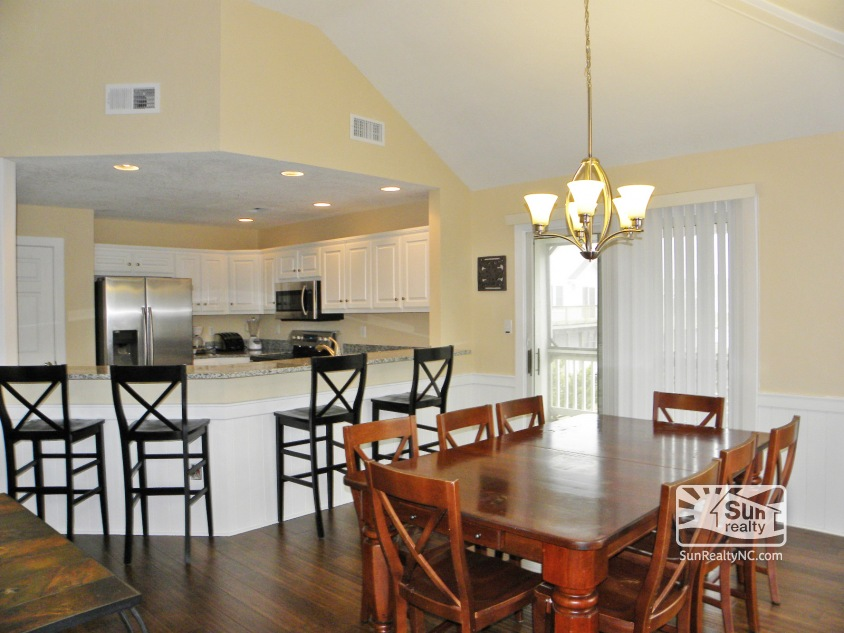 Top-Level Dining and Kitchen Areas