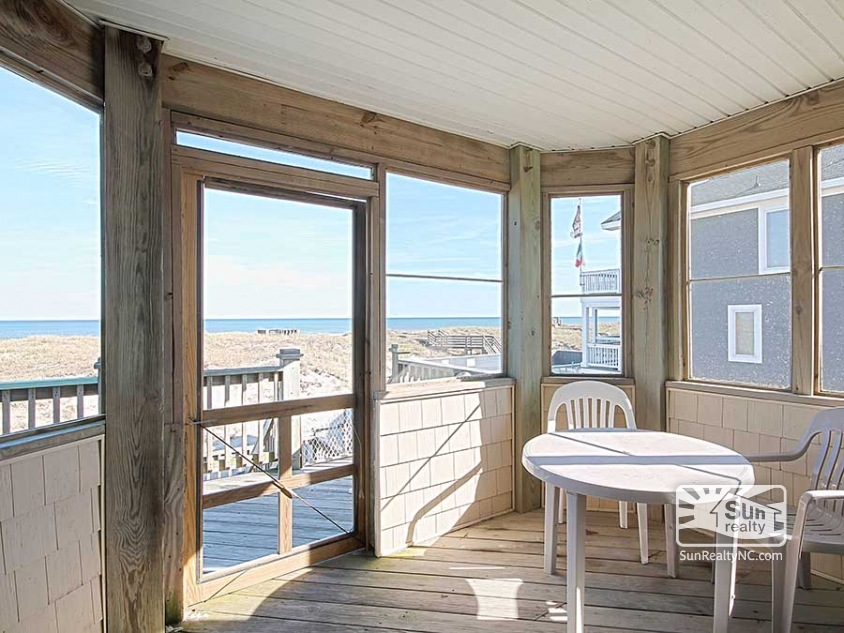 Top-Level Screened-In Deck with Ocean Views