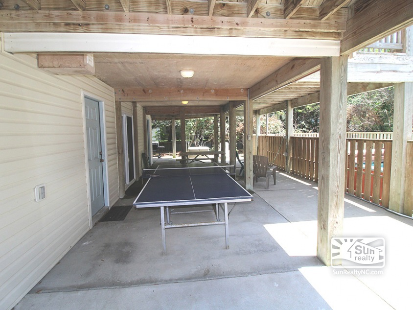 Carport with Ping Pong Table