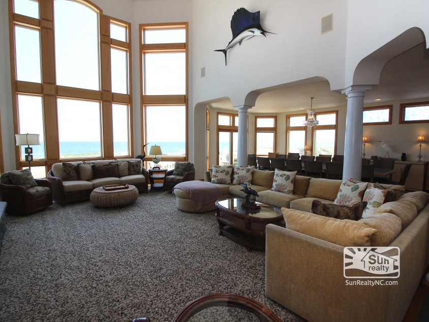 Ocean Views from Mid-Level Living Area