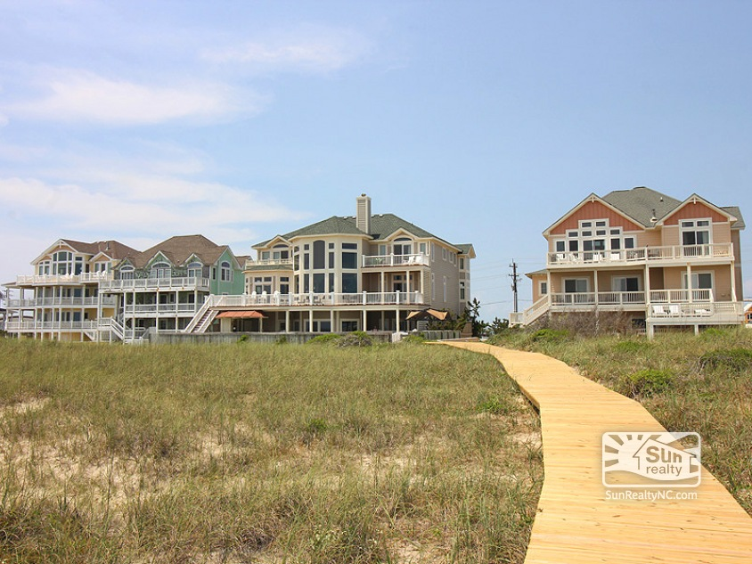 Rear Exterior and Boardwalk to Beach