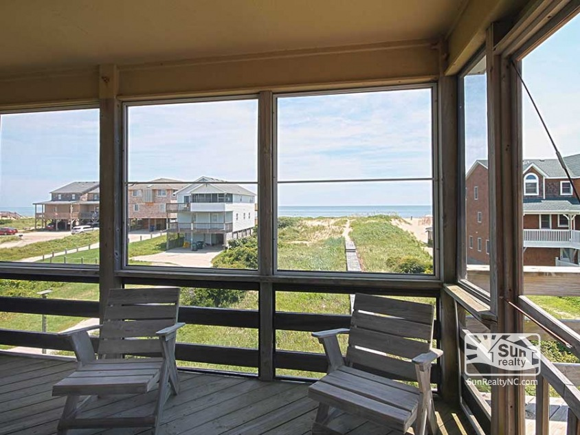 Ocean Views from Screened In Porch