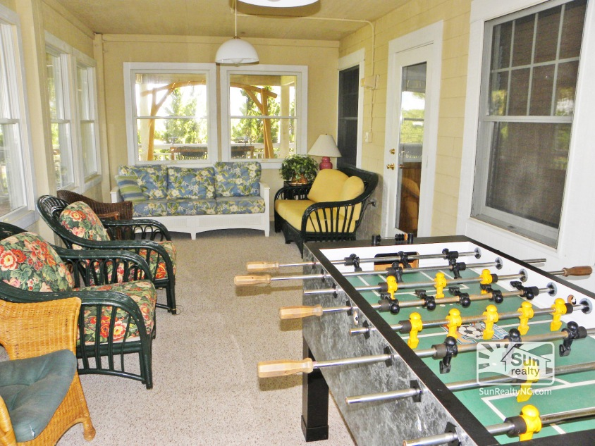 Mid-Level Sun Room with Foosball Table