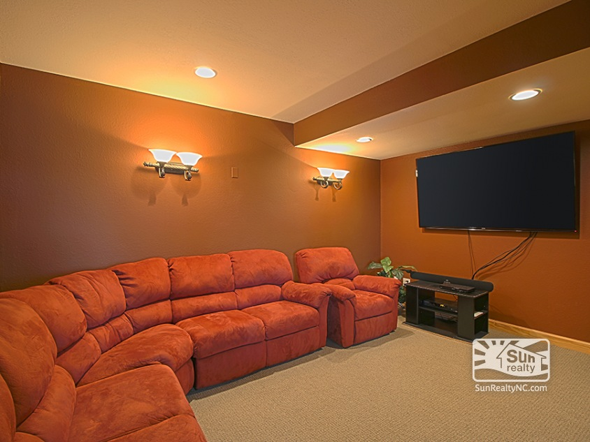 Lower-Level Theater Room